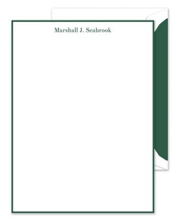 Green White Lettersheet