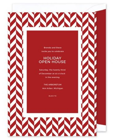 Red Chevron Invitation