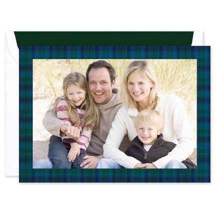 Blue Tartan Greeting Card