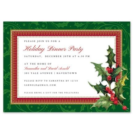 Holly Bough Invitation