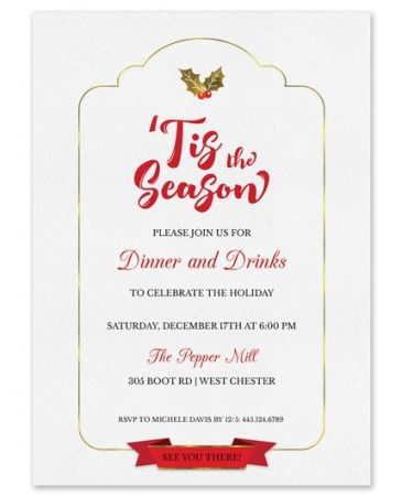 Tis the Season Invitation