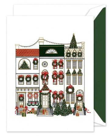 Brownstones Greeting Card