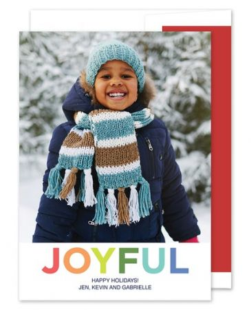 Joyful Photo Card