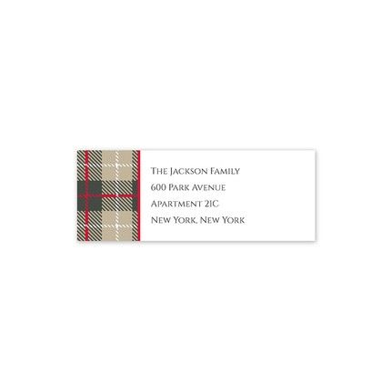 Wallace Tan Address Label