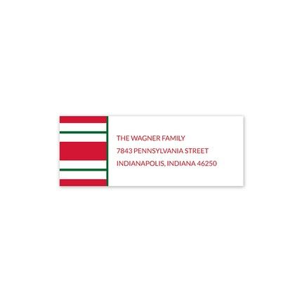 Essex Red Address Label