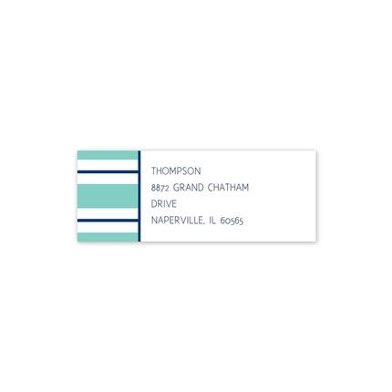 Essex Aqua Address Label