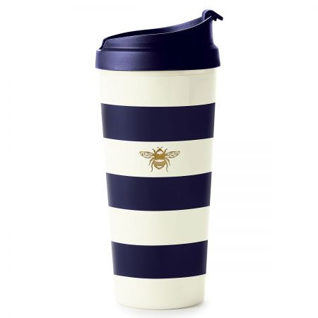 Navy Stripe Thermal Mug