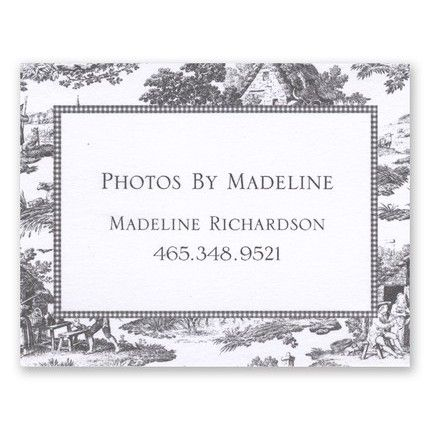 Black Toile Calling Card