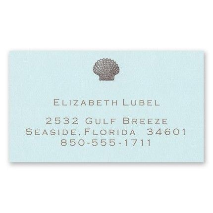 Seashell Calling Card