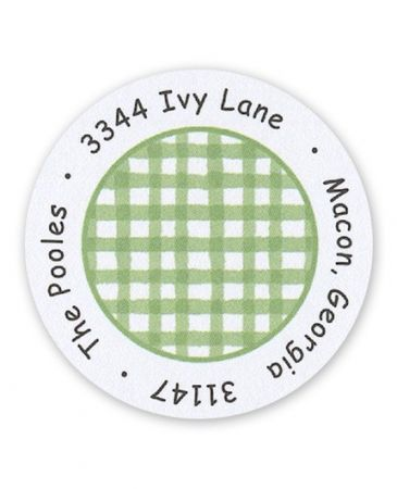 Green Check Label