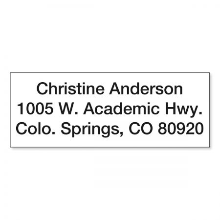 Mini Custom Address Stamp