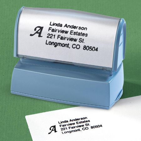 Initial Custom Address Stamp
