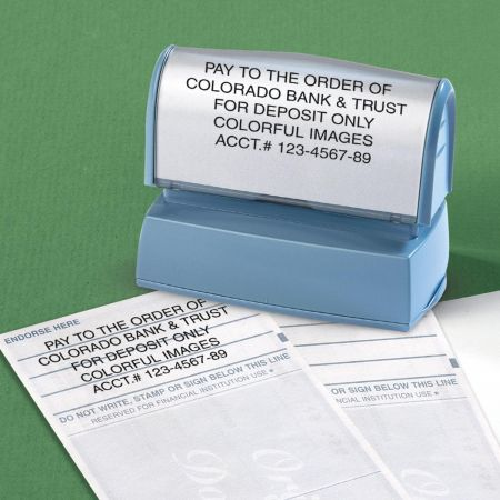 Deposit Large Custom Address Stamp