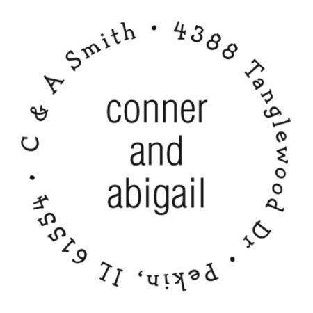 Couples Round Custom Address Stamp