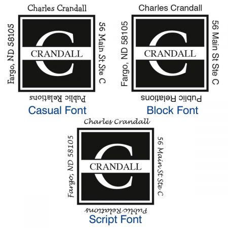 Front & Center Square Custom Address Stamp