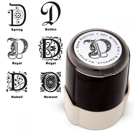 Initial Choice Round Custom Address Stamp