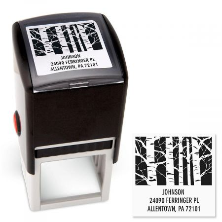 Trees Square Custom Address Stamp