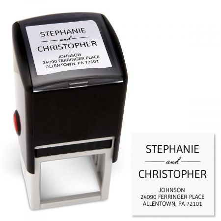 Modern Square Custom Address Stamp