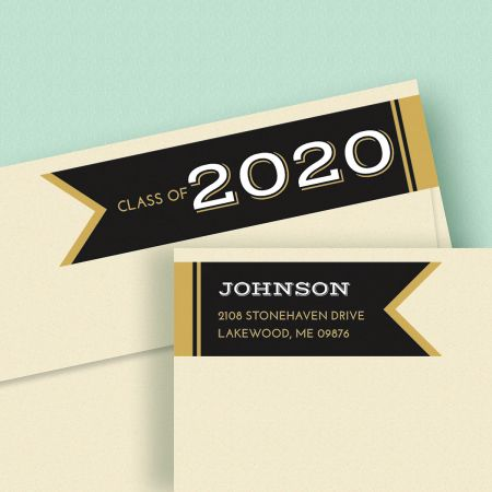 Graduation Day Connect Wrap Diecut Custom Address Labels