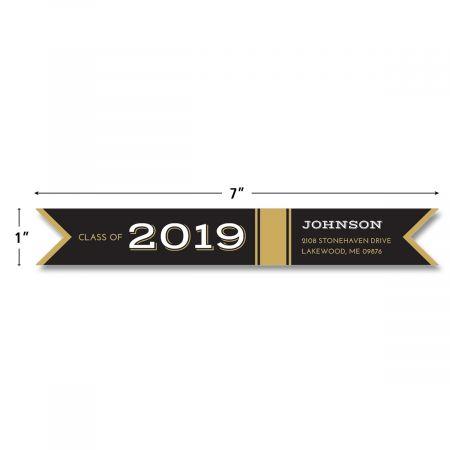 Graduation Day Connect Wrap Diecut Custom Address Labels