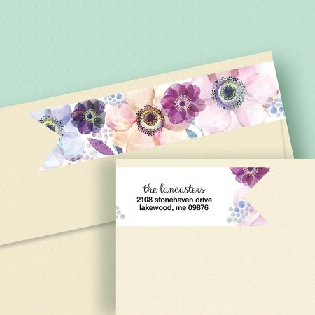 Days of Beauty Connect Wrap Diecut Custom Address Labels