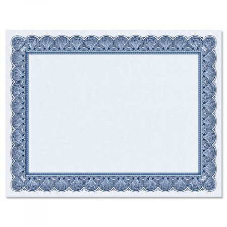 Elite Blue Certificate on Blue Parchment - Set of 25