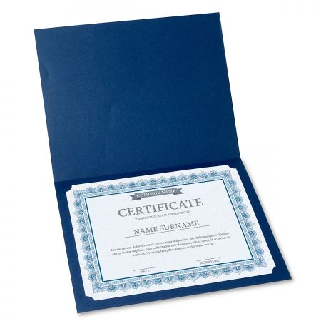Intricate Blue Certificate on Blue Parchment - Set of 100