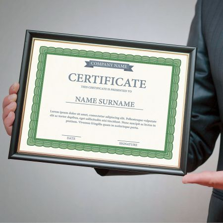 Executive Green Certificate on White Parchment - Set of 50