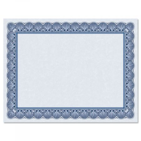 Elite Blue Certificate on Blue Parchment - Set of 10