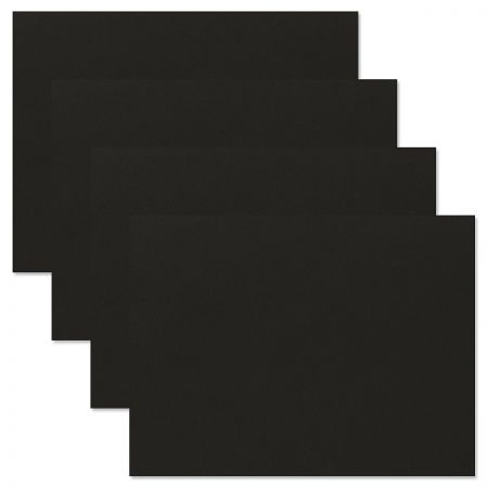 Plain Black Certificate Folder - Set of 10