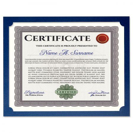 Plain Blue Certificate Frame