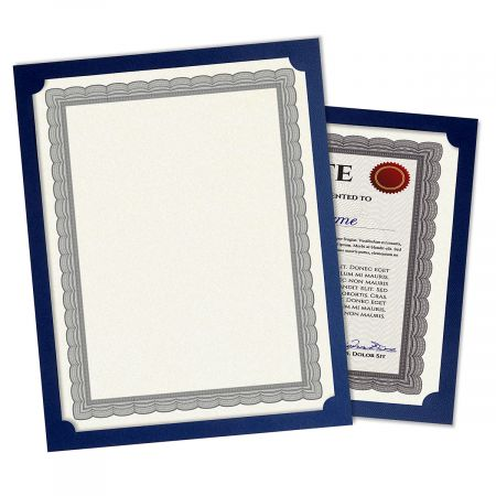 Plain Blue Certificate Frame - Set of 10