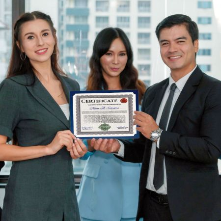 Plain Blue Certificate Holders - Set of 25
