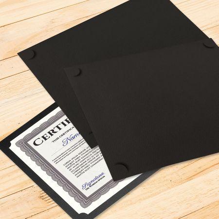 Plain Black Certificate Holder - Set of 25