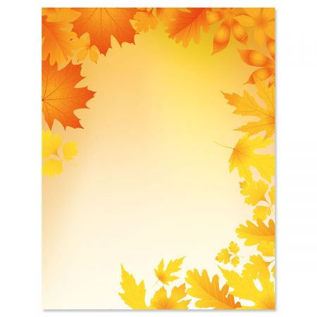 Autumn Leaves Fall Letter Papers