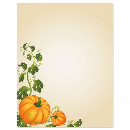 Pumpkin Vines Letter Papers