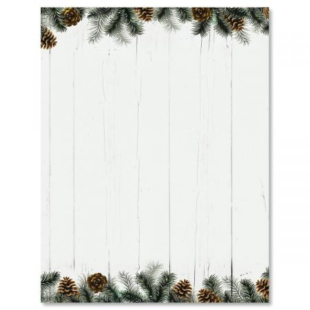 Rural Festive Pine Letter Papers