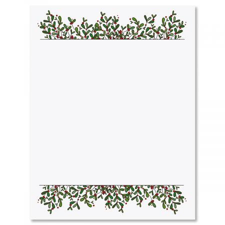 Mistletoe Frame Letter Papers