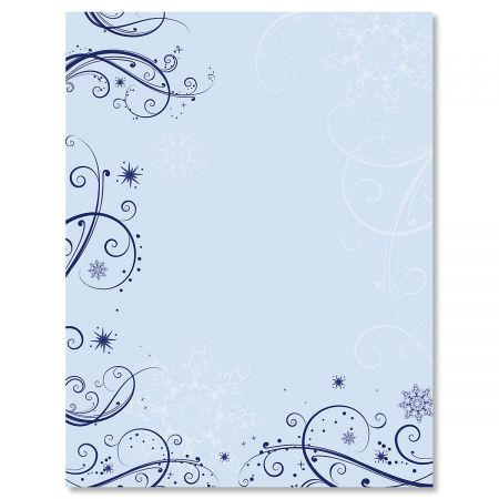 Frosted Glimmer Letter Papers
