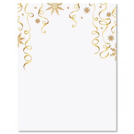 Gilded Ribbons Letter Papers
