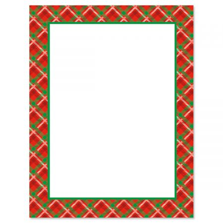 Plaid Frame Letter Papers