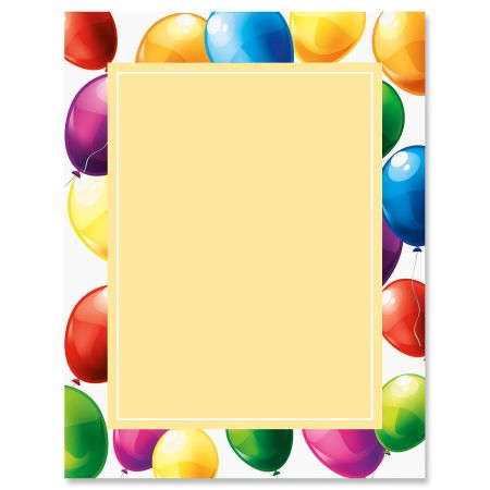 Floating Balloons Birthday Letter Papers