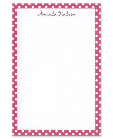 Pink Polka Dot Note Pad