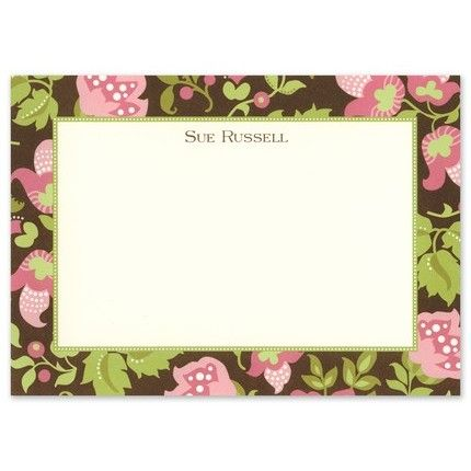 Brown Floral Stationery