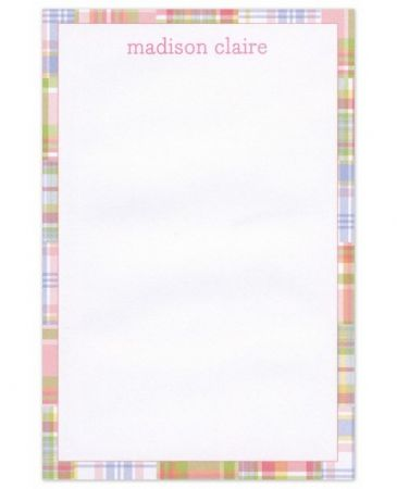 Pink Madras Note Pad