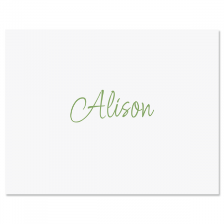 Casual Note Cards-Sage-604080C