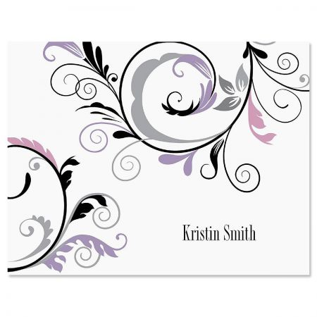 Black & Grey Fantasy Note Cards