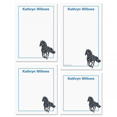 Horse Patterns Note Pad Set