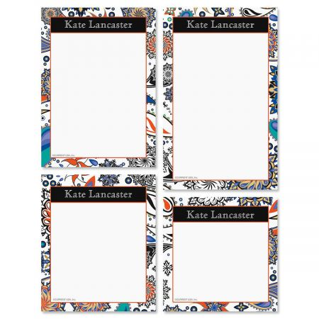 Color Paisley Note Pad Set