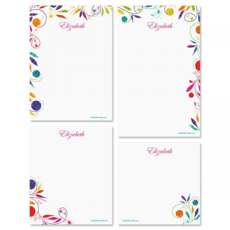 Color Swirl Note Pad Set